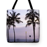 Palm Trees On The Beach, Waikiki Tote Bag