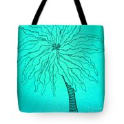 Palm Turquoise  Tote Bag