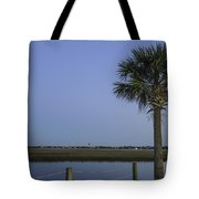 Palmetto View Of Lighthouse Tote Bag