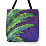 Palms Against The Night Sky Tote Bag