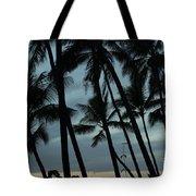 Palms At Dusk Tote Bag