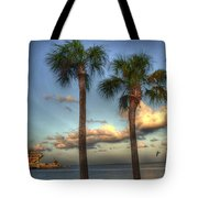 Palms At The Pier Tote Bag