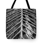 Palms E The Other Way In Black And White Tote Bag