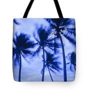 Palms In Storm Wind-bora Bora Tahiti Tote Bag