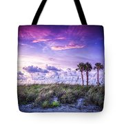 Palms On The Beach Tote Bag by Marvin Spates