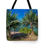 Palms On The Beach. Mauritius Tote Bag