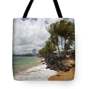 Palms Trees Along Luquillo Beach Tote Bag