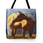 Palomino Horse - Variation Tote Bag by Crista Forest