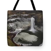 Palouse Falls In Winter Tote Bag