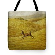 Palouse Farm Whitetail Deer Tote Bag by Crista Forest