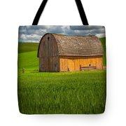 Palouse Yellow Barn Tote Bag