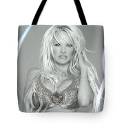 Pamela Anderson - Angel Rays Of Light Tote Bag
