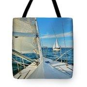 Pamlico Sound Sailing 52 4/14 Tote Bag