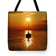 Pamlico Sound Sunset 2 7/26 Tote Bag