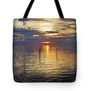 Pamlico Sound Sunset 3 12/5 Tote Bag