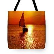 Pamlico Sound Sunset 3 7/26 Tote Bag