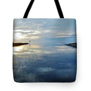 Pamlico Sound Sunset Reflection 7 12/5 Tote Bag