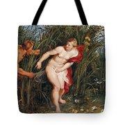 Pan And Syrinx Tote Bag