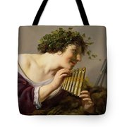 Pan Playing His Pipes Tote Bag by Paulus Moreelse