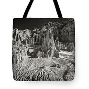 Panaca Sandstone Formations In Black And White Nevada Landscape Tote Bag