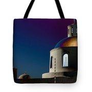 The Church Of Panagia Of Platsani Tote Bag