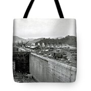 Panama Canal Construction 1910 Tote Bag