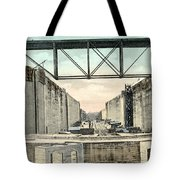 Panama Canal Locks Tote Bag