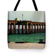Panama City Beach Pier 2  Tote Bag