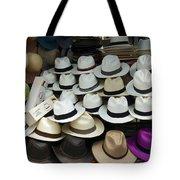 Panama Hats In Ecuador Tote Bag