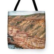 Panaromic Photo Of Red Bluff Beach Tote Bag