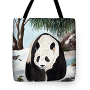 Panda On Ice Tote Bag