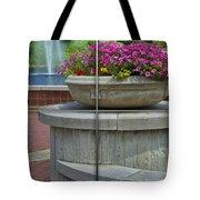 Sample Paneled Concrete Flower Pot Tote Bag