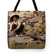 Panning For Gold Mekong River 1 Tote Bag