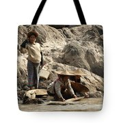 Panning For Gold Mekong River 2 Tote Bag