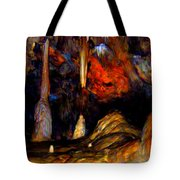 Pano Of A Colorful Cave Tote Bag