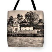 Panorama Alcatraz Shaky Sepia Tote Bag