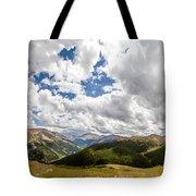 Panorama Atop Independence Pass Tote Bag
