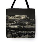 Panorama Bryce Canyon Storm In Black And White Tote Bag