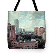 Panorama-dt-toronto Looking East Tote Bag