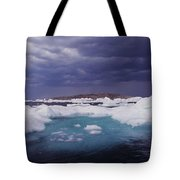 Panorama Ice Floes In A Stormy Sea Wager Bay Canada Tote Bag