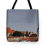 panorama - Mikulov castle Tote Bag by Michal Boubin
