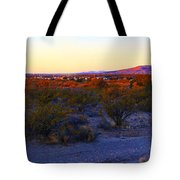 Panorama Morning View Of Mountains Tote Bag