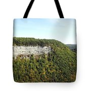 Panorama Of Cliff At Letchworth State Park Tote Bag