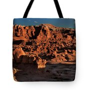 Panorama Of Hoodoos At Sunset Goblin Valley State Park Utah Tote Bag