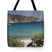 Panorama Of Mandrakia Fishing Village Milos Greece Tote Bag