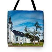 Panorama Of Sts. Cyril And Methodius Catholic Church - Dubina Texas Tote Bag