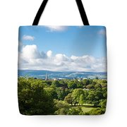 Panorama Of Phoenix Park And Wicklow Mountains Tote Bag