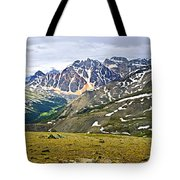 Panorama Of Rocky Mountains In Jasper National Park Tote Bag