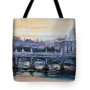 Panorama Of Rome Tote Bag