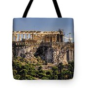 Panorama Of The Acropolis In Athens Tote Bag